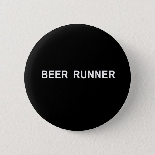 beer runner t-shirt 6 cm round badge