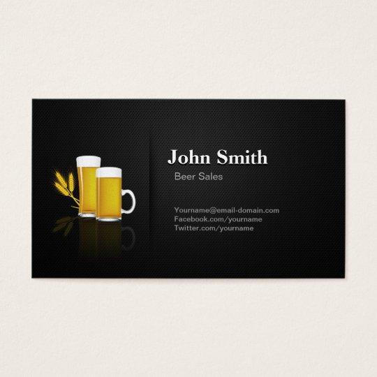 Beer Sales - Professional Premium Black Mesh Business Card