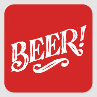 BEER SHOUTOUT RED WHITE BAR BEVERAGE ALCOHOLIC LOG STICKERS