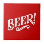 BEER SHOUTOUT RED WHITE BAR BEVERAGE ALCOHOLIC LOG CERAMIC TILES