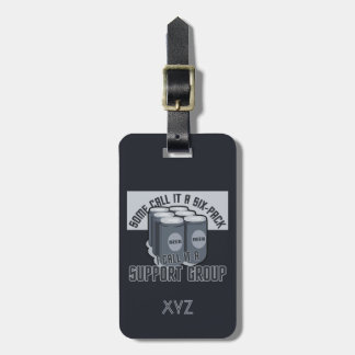Beer Six Pack custom luggage tag