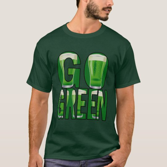 Beer St Patrick's Day Go Green Mens Green T T-Shirt