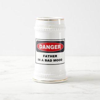 Beer Stein - Danger, Father in Bad Mood! Beer Steins