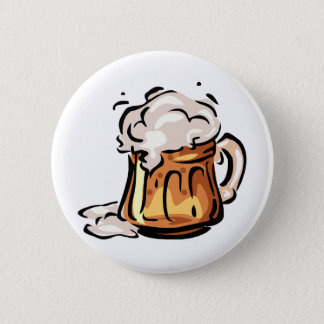 Beer Stein for Octoberfest 6 Cm Round Badge