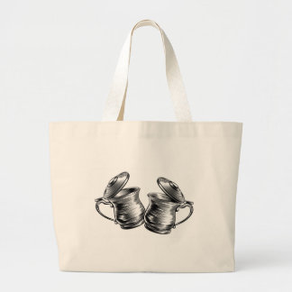 Beer Stein Tankard Prost Concept Large Tote Bag