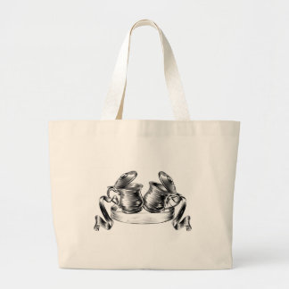 Beer Stein Tankard Toast Banner Concept Large Tote Bag