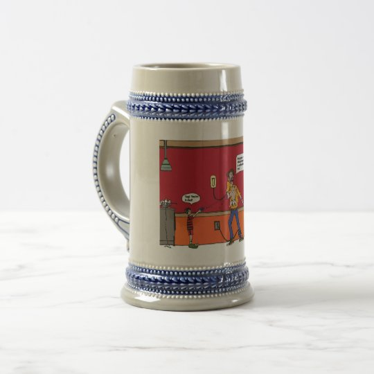 Beer Stien with funny Comics Beer Stein
