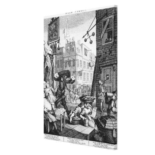 Beer Street, 1751 Gallery Wrapped Canvas