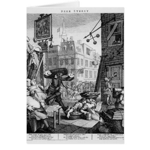 Beer Street, 1751 Cards