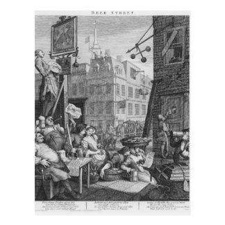 Beer Street, 1751 Postcard