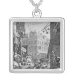Beer Street, 1751 Square Pendant Necklace