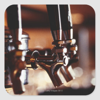 Beer Taps Square Sticker