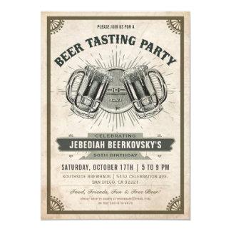Beer Tasting Invitation | Vintage Retro