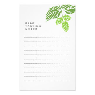 Beer Tasting Notes, party, hops 14 Cm X 21.5 Cm Flyer