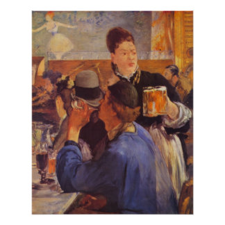 Beer Waitress by Edouard Manet Poster