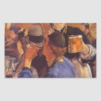 Beer Waitress by Edouard Manet Rectangle Stickers