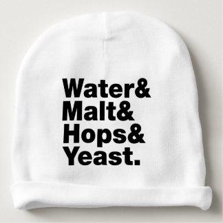 Beer = Water & Malt & Hops & Yeast. Baby Beanie