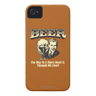 Beer: Way To Mans Heart Through Liver Case-Mate iPhone 4 Case