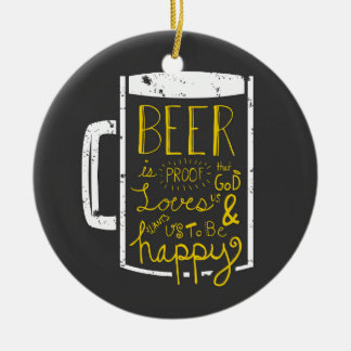 Beer Wisdom Christmas Ornament