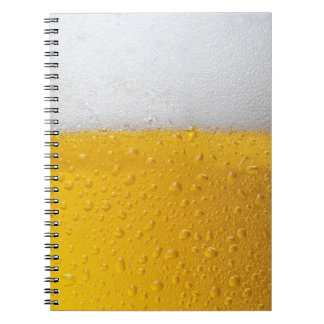 Beer with foam spiral notebooks