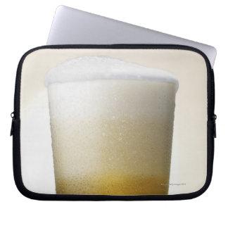 beer with foamy head laptop sleeve