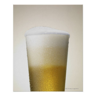 beer with foamy head poster