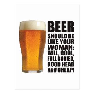 Beer Woman Postcard