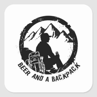 BeerAndaBackpack Stickers