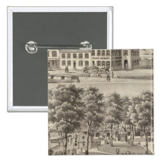 Beergarden and brewery of CL Centlivre 15 Cm Square Badge
