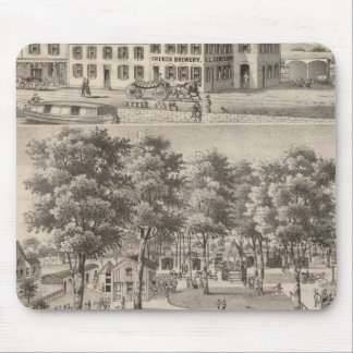 Beergarden and brewery of CL Centlivre Mouse Pad
