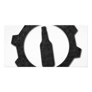 Beers black picture card