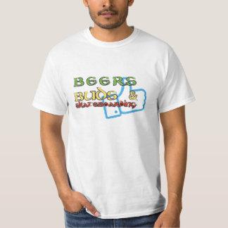 Beers Buds and skateboarding tshirt