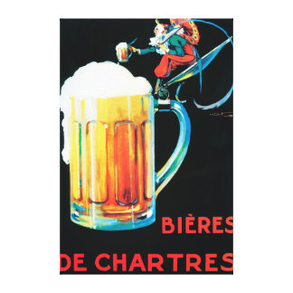 Beers of Chartres Promotional Poster Canvas Print