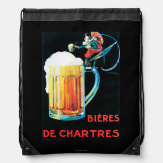 Beers of Chartres Promotional Poster Drawstring Bag