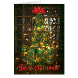 Beery Christmas - Lighted Beer Tree Card