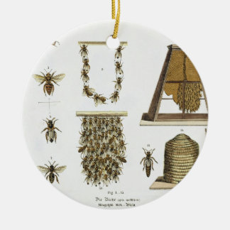 Bees and bee-keeping, from 'The Young Landsman', p Round Ceramic Decoration