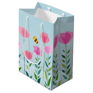 Bees and Blossoms Medium Gift Bag