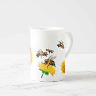 Bees and dandelions tea cup