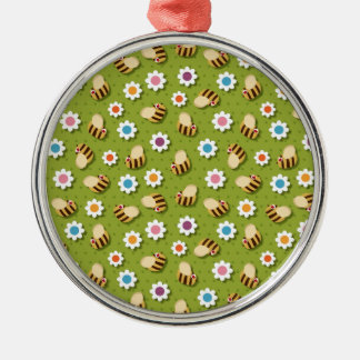 Bees and Flowers Christmas Ornament