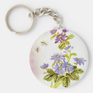 Bees and Flowers Key Ring