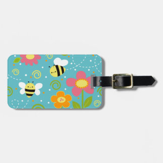 Bees and Flowers Luggage Tag by Clayvision