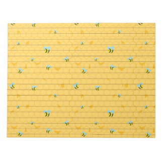 Bees and Honeycomb Lined Notepad