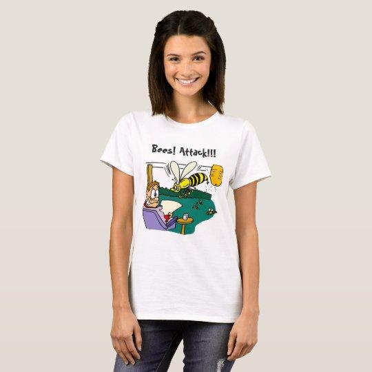 Bees Attack Women's Basic T-Shirt
