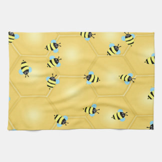 Bees Buzzing Tea Towel