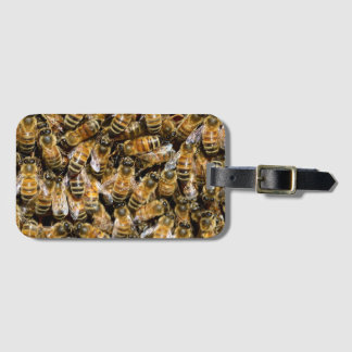 Bees carpet luggage tag