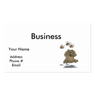 bees chasing bear pack of standard business cards