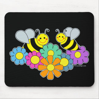 Bees & Flowers Mouse Mat
