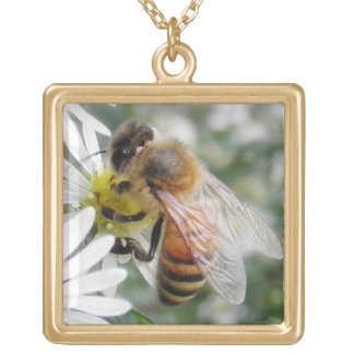 Bees Honey Bee Wildflowers Flowers Daisies Photo Necklaces