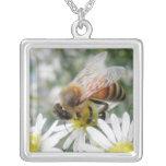 Bees Honey Bee Wildflowers Flowers Daisies Photo Jewelry