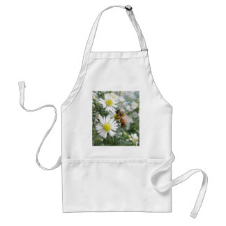 Bees Honey Bee Wildflowers Flowers Daisies Photo Standard Apron
